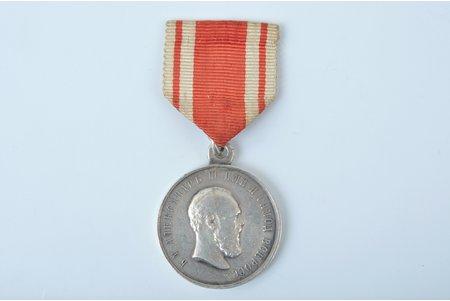 медаль, Александр III, За усердiе, Российская Империя, начало 20-го века, 29 x 29 мм, 14.95 г