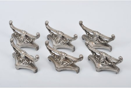 servēšanas komplekts, Norblin, Polija, 20. gs. sākums, 4 x 8 cm, 6 gab.