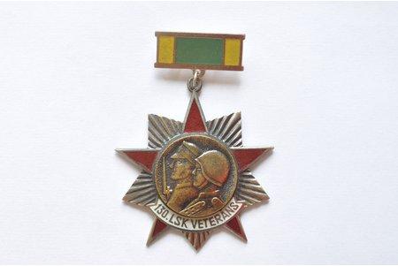 знак, Ветеран 130ого корпуса латышских стрелков, СССР, 50 х 66 мм