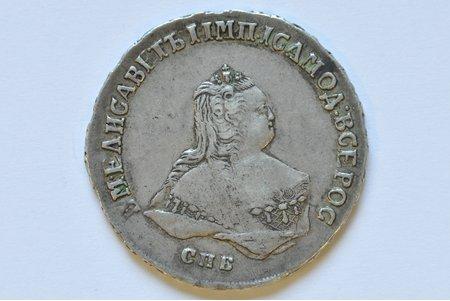 poltinnik (50 kopeikas), 1748 g., SPB, Krievijas Impērija, 13 g, d = 34 mm